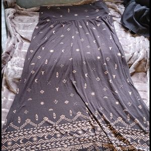 Mossimo western print maxi skirt size XL